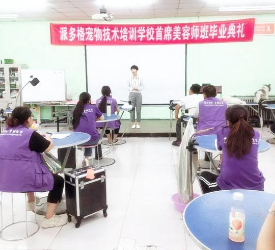 派多格宠物(技术培训)第11期首席美容师班毕业典礼
